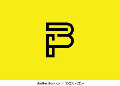 Initial BP PB modern monogram and elegant logo design, Professional Letters Vector Icon Logo on black background.