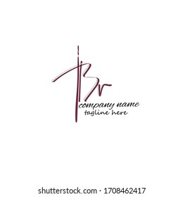 Initial Br handwriting logo vector