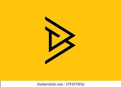 Initial BT TB modern monogram and elegant logo design, Professional Letters Vector Icon Logo on background.