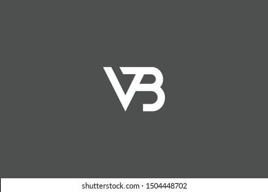 Initial BV VB Letter Logo Design Vector Template. Monogram and Creative Alphabet B V Letters icon Illustration.