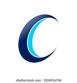 Initial C Drone Propeller Spin Vector Symbol Graphic Logo Design