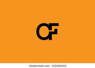 Initial C F Letter Logo Design Vector Template. Monogram and Creative Alphabet CF FC Letters icon Illustration.