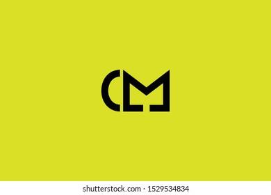Initial C M Letter Logo Design Vector Template. Monogram and Creative Alphabet CM MC Letters icon Illustration.