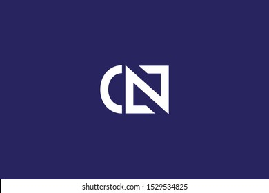 Initial C N Letter Logo Design Vector Template. Monogram and Creative Alphabet CN NC Letters icon Illustration.