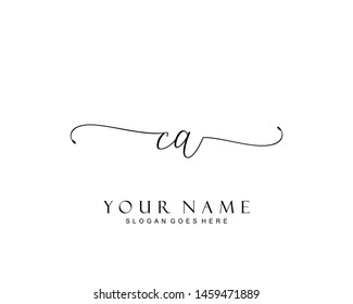 Initial CA beauty monogram and elegant logo design, handwriting logo of initial signature, wedding, fashion, floral and botanical with creative template.