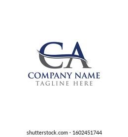 Initial CA Letter Logo Design Vector Template. CA Logo Design