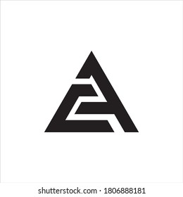 Initial CA logo design, Initial CA logo design with triangle style