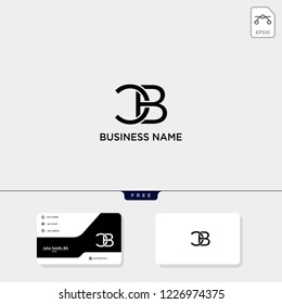 initial CB or BC creative logo template and business card include. vector illustration and logo inspiration