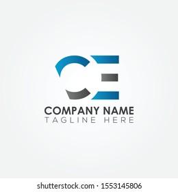 Initial CE Letter logo vector template design. Linked Letter CE Logo design.