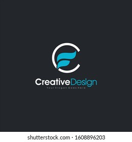Initial CF or FC logo Design Clumbing abstract Logo Template Design Vector, Emblem, Design Concept, Creative Symbol design vector element for identity, logotype or icon