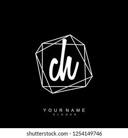 Initial CH handwriting logo vector