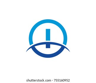 I initial circle company logo blue