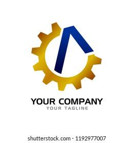 Initial A Civil Company Symbol Logo Design