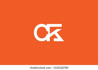 Initial CK KC Letter Logo Design Vector Template. Monogram and Creative Alphabet C K Letters icon Illustration.