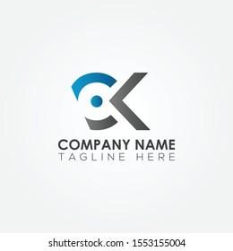 Initial CK Letter logo vector template design. Linked Letter CK Logo design.