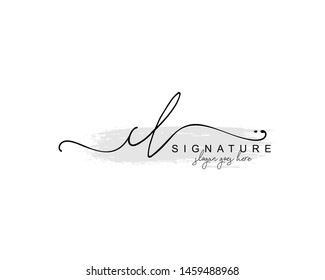 Initial CL beauty monogram and elegant logo design, handwriting logo of initial signature, wedding, fashion, floral and botanical with creative template.