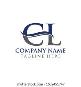 Initial CL Letter Logo Design Vector Template. CL Logo Design