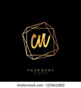 Initial CN handwriting logo vector