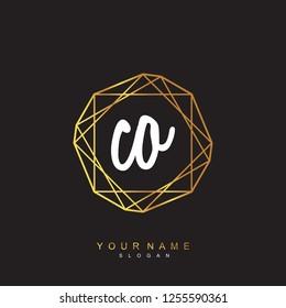 Initial CO handwriting logo vector