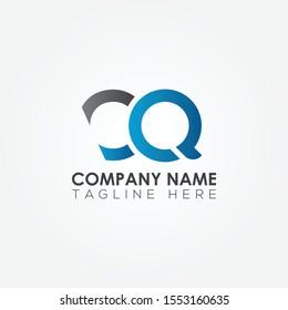 Initial CQ Letter logo vector template design. Linked Letter CQ Logo design.