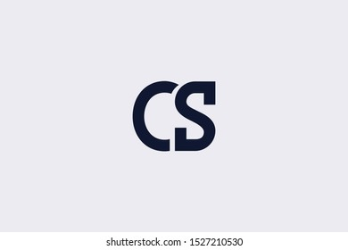 Initial CS SC Letter Logo Design Vector Template. Monogram and Creative Alphabet C S Letters icon Illustration.