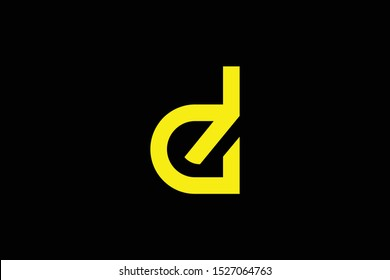 Initial D DG GD modern monogram and elegant logo design, Professional Letters Vector Icon Logo on black background.