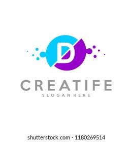 Initial D logo concepts template vector