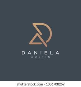 Initial DA Logo - Vector logo template