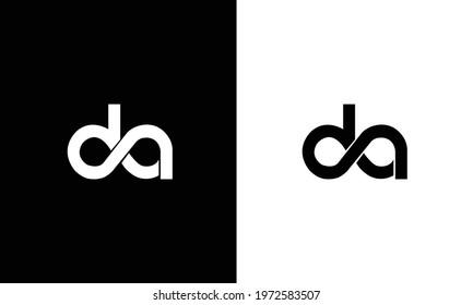 Initial DA modern monogram and elegant logo design