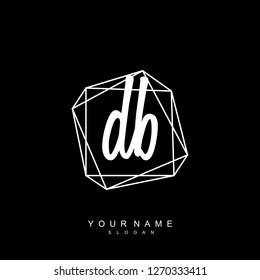 Initial DB handwriting logo vector