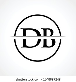 Initial DB Letter Logo Design Vector Template With Black Color. DB Logo Design