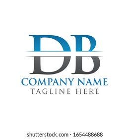 Initial DB Letter Logo Design Vector With Blue and Grey Color. DB Logo Design