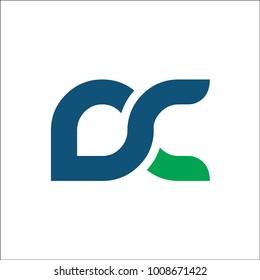 initial DC logo vector