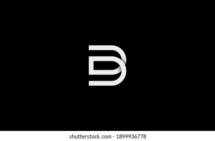 Initial DD DB Logo Design icon Illustration