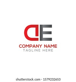 Initial DE or AE Letter Logo With Creative Modern Business Typography Vector Template. Creative Letter DE or AE Logo Vector.