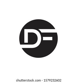 Initial DF Letter Logo With Creative Modern Business Typography Vector Template. Creative Letter DF Logo Vector.