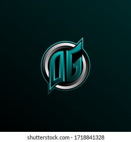 Initial DG logo design, Initial OG logo design with Circle style, Logo for game, esport, community or business.