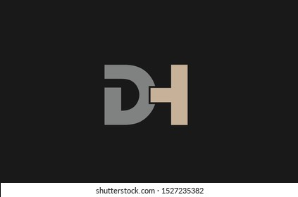 Initial DH logo design template for business