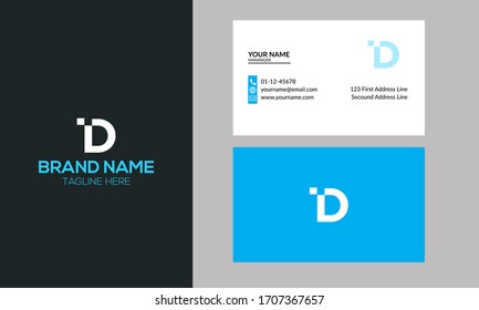 Initial DI or ID Letter Logo. Creative Modern Business Typography Vector Template