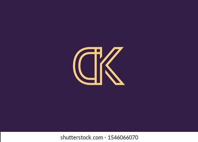 Initial DK KD Letter Logo Design Vector Template. Monogram and Creative Alphabet D K Letters icon Illustration.
