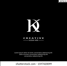 Initial DK, KD modern Logo icon design. Vector graphic design template element. Graphic Symbol for Corporate Business Identity.