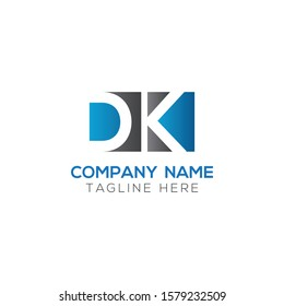 Initial DK Letter Logo With Creative Modern Business Typography Vector Template. Creative Letter DK Logo Vector.