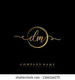 Initial DM handwriting logo
