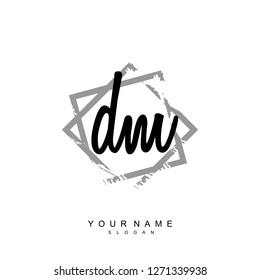 Initial DM handwriting logo vector