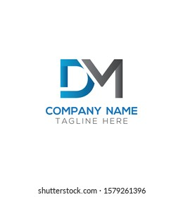 Initial DM Letter Logo With Creative Modern Business Typography Vector Template. Creative Letter DM Logo Vector.