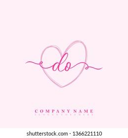 Initial DO handwriting logo