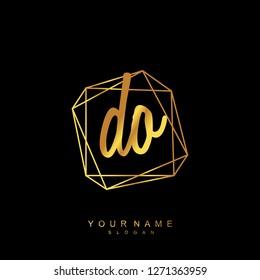 Initial DO handwriting logo vector