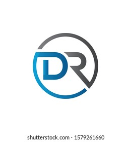 Initial DR Letter Logo With Creative Modern Business Typography Vector Template. Creative Letter DR Logo Vector.
