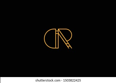 Initial DR RD Letter Logo Design Vector Template. Monogram and Creative Alphabet D R Letters icon Illustration.