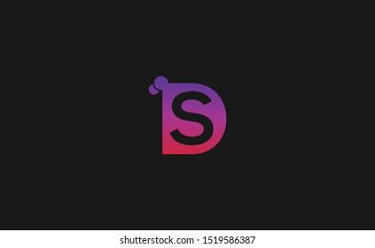 Initial DS Letter Logo Design